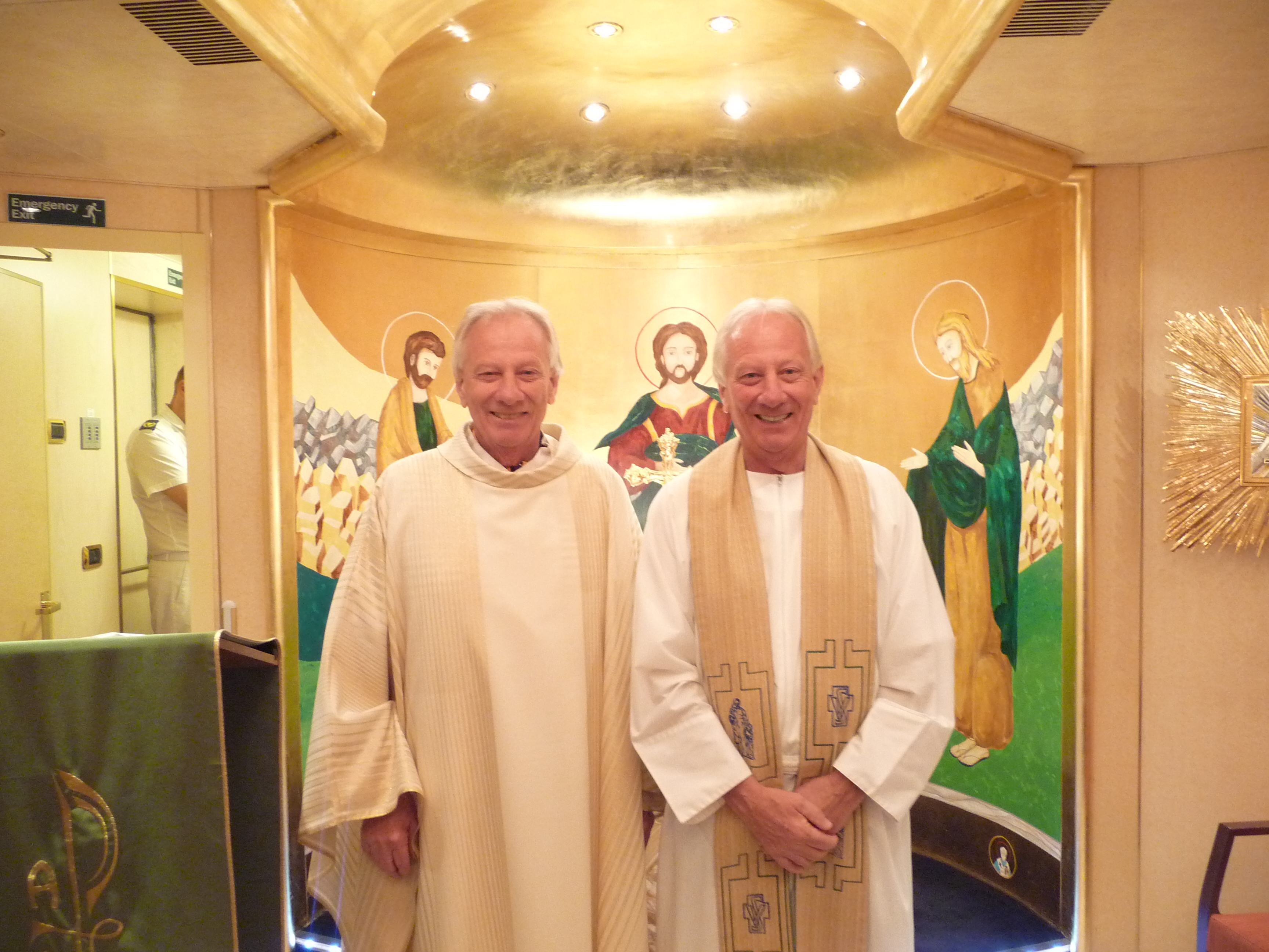 Fr Dick and Bob Chapel Costa
