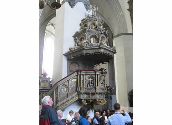 St Mary's Pulpit Rostock Germany