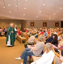 Fr Bob preaching to parish
