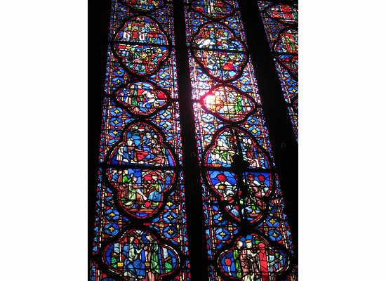 Windows at St Chappelle Paris