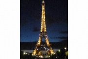 Eiffel Tower Lighted
